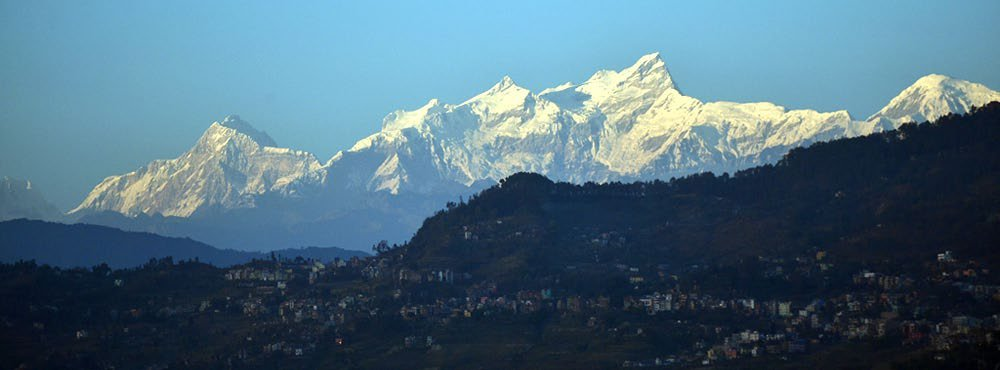 View of the Manaslu range from Gorkha Gaun