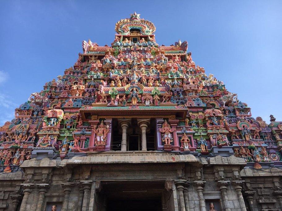 A lavish South Indian temple