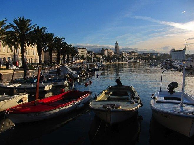 Harbor views in Split