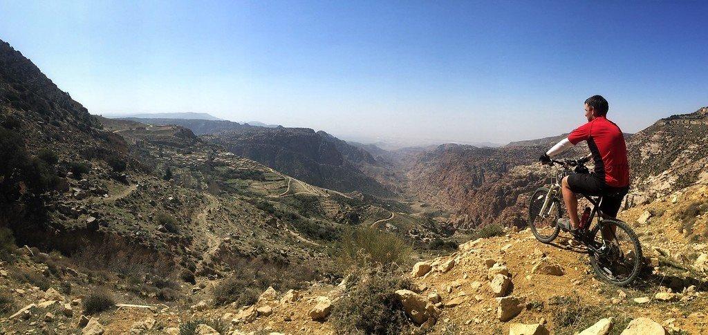Mountain views from the trail in Jordan (Photo courtesy of the Jordan Bike Trail)