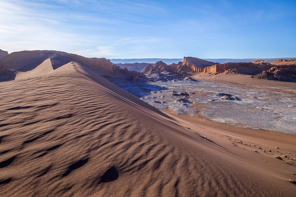 Sand dunes in the Valle de la Luna