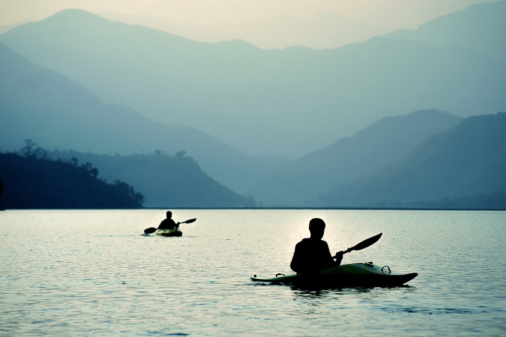 Kayaking on a Nepali river