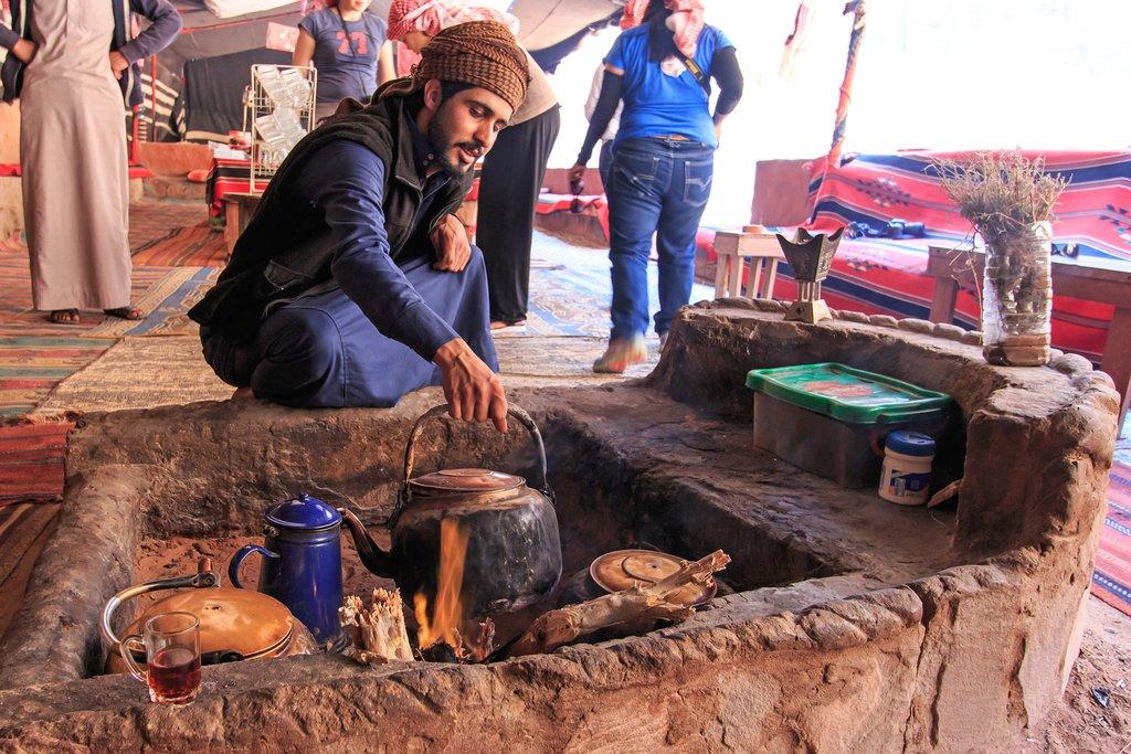 Enjoying Bedouin Hospitality
