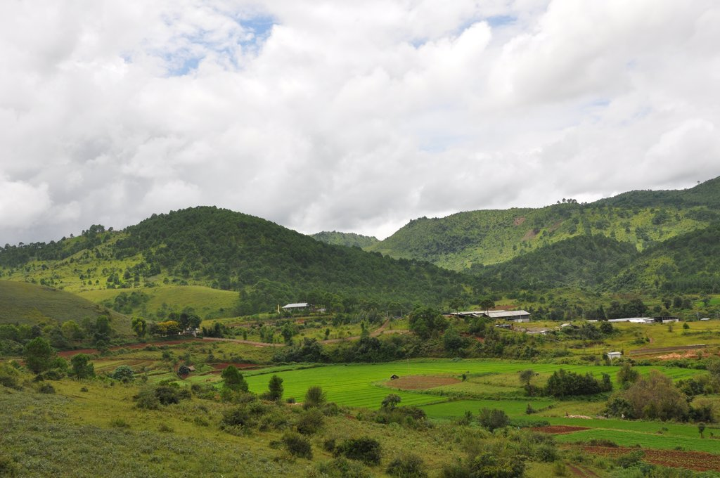 The winding roads and green landscape of the Shan Hills are a welcome relief from the heat