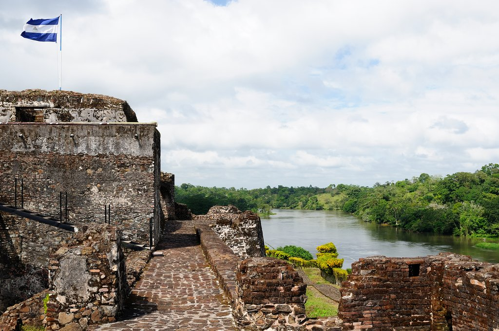 Defensive fort of El Castillo on the San Juan River