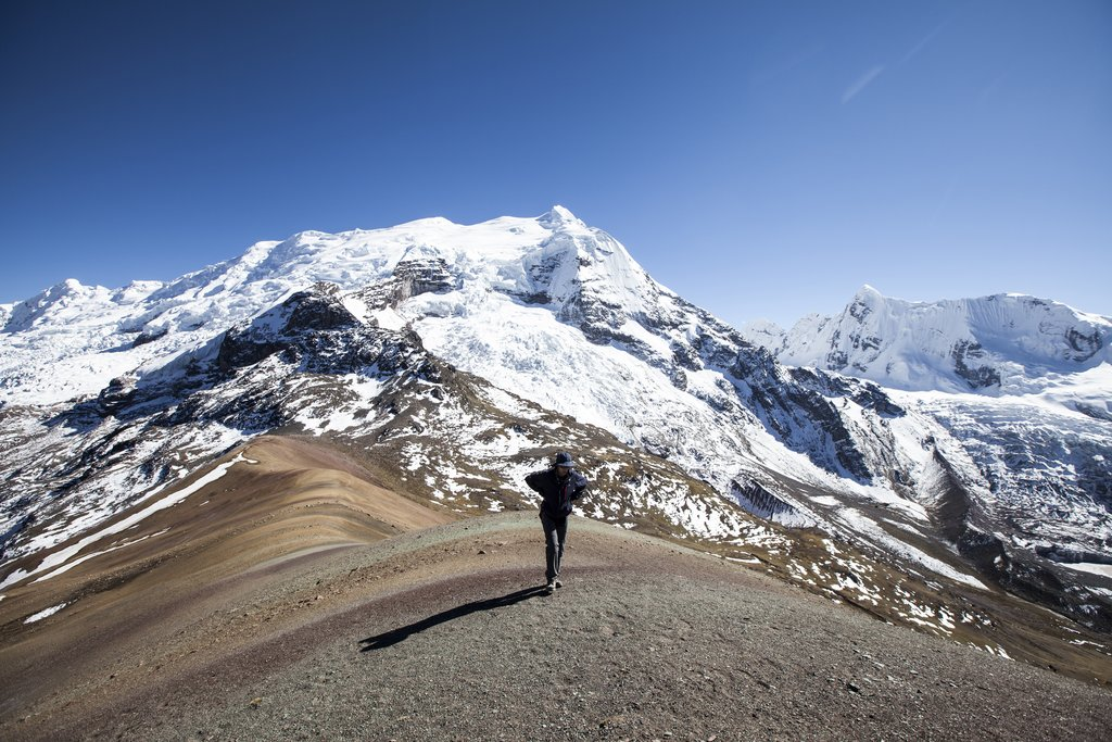 Enjoy panoramic views as you trek across the mountain pass