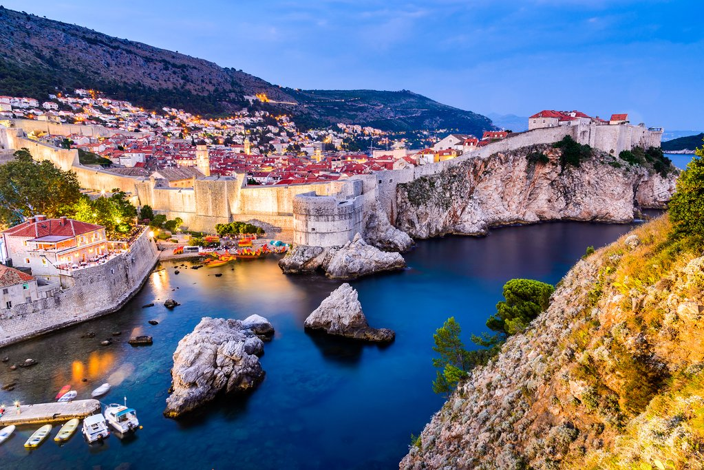 The medieval old city of Dubrovnik