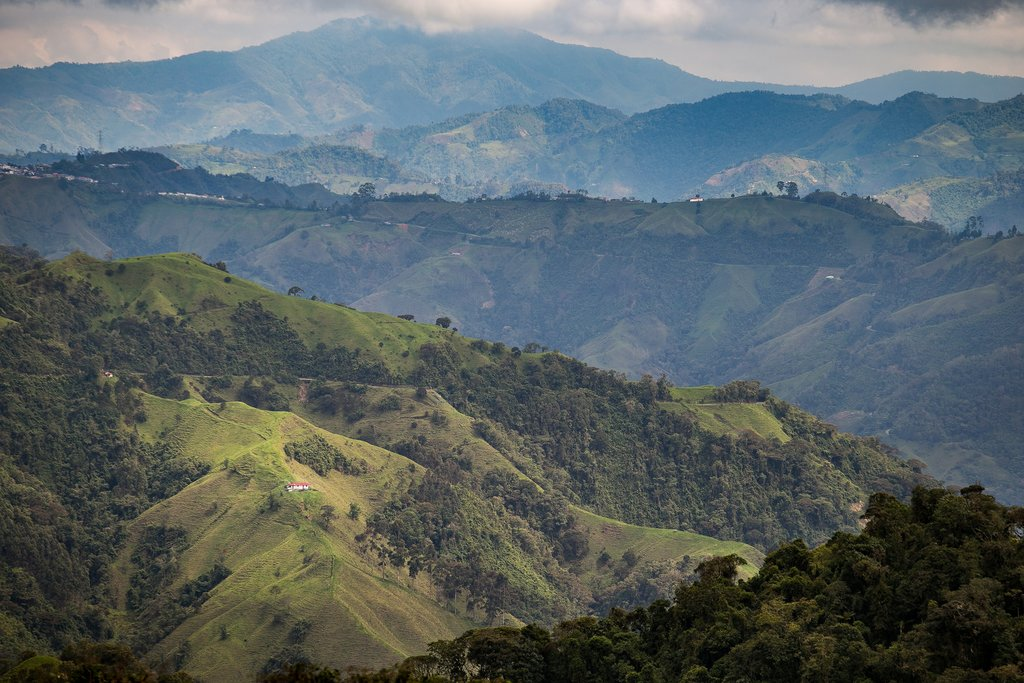 Mountains in Colombia's Coffee Region