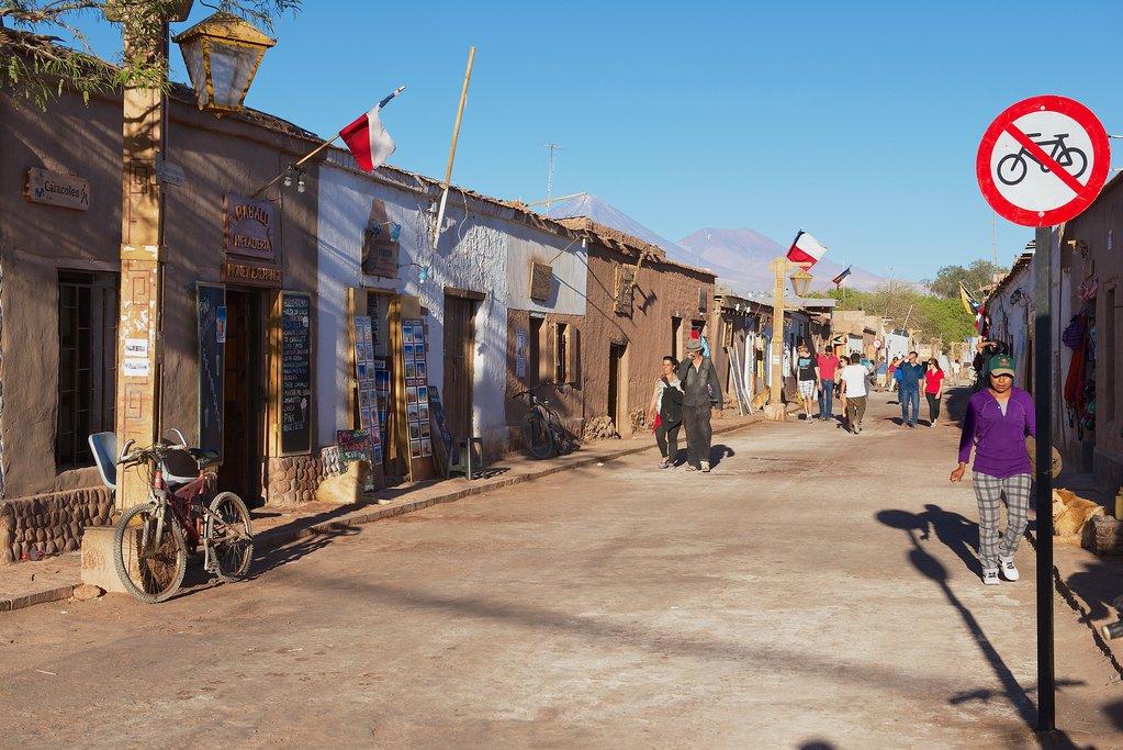 The low-slung town of San Pedro de Atacama