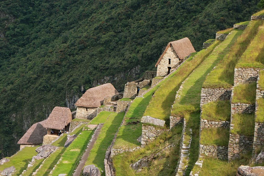 Stone Terraces at Machu Picchu