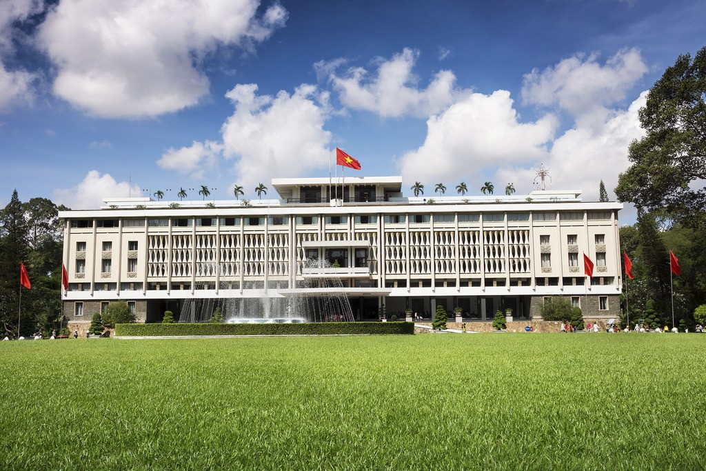 Independence Palace, the site of the end of the Vietnam War