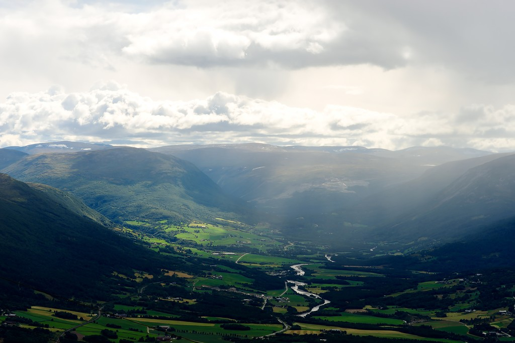 Overlooking the Oppdal Valley