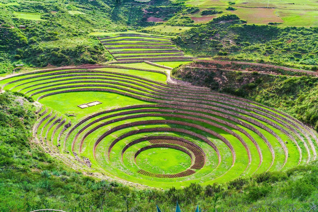 Moray the Incan agricultural laboratory at Sacred Valley of the Incas in Peru