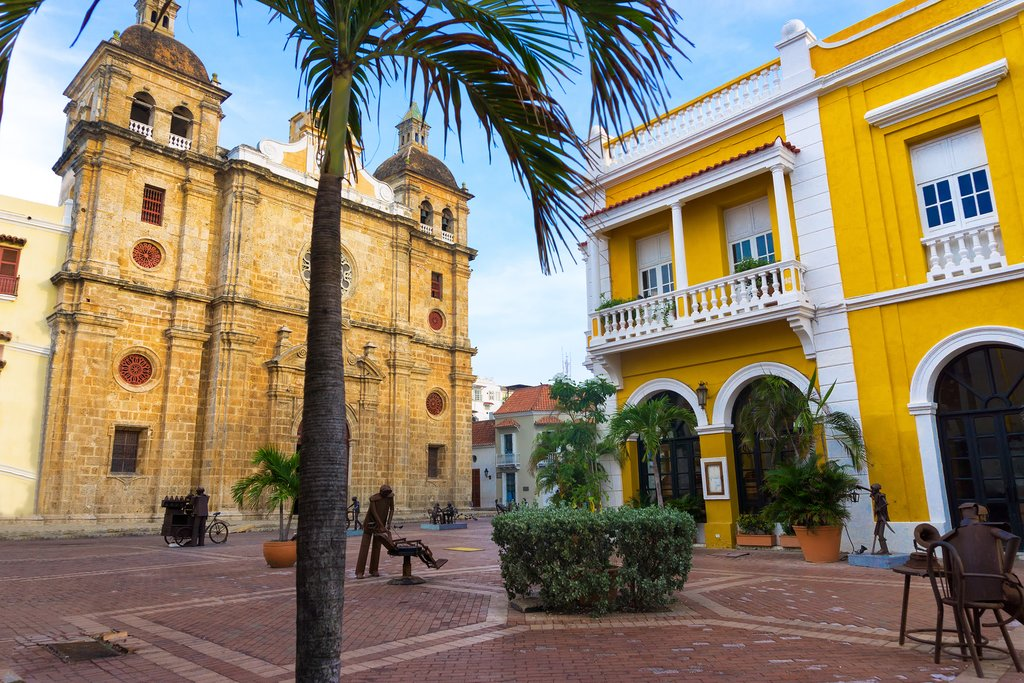 Plaza in front of the San Pedro Claver Church