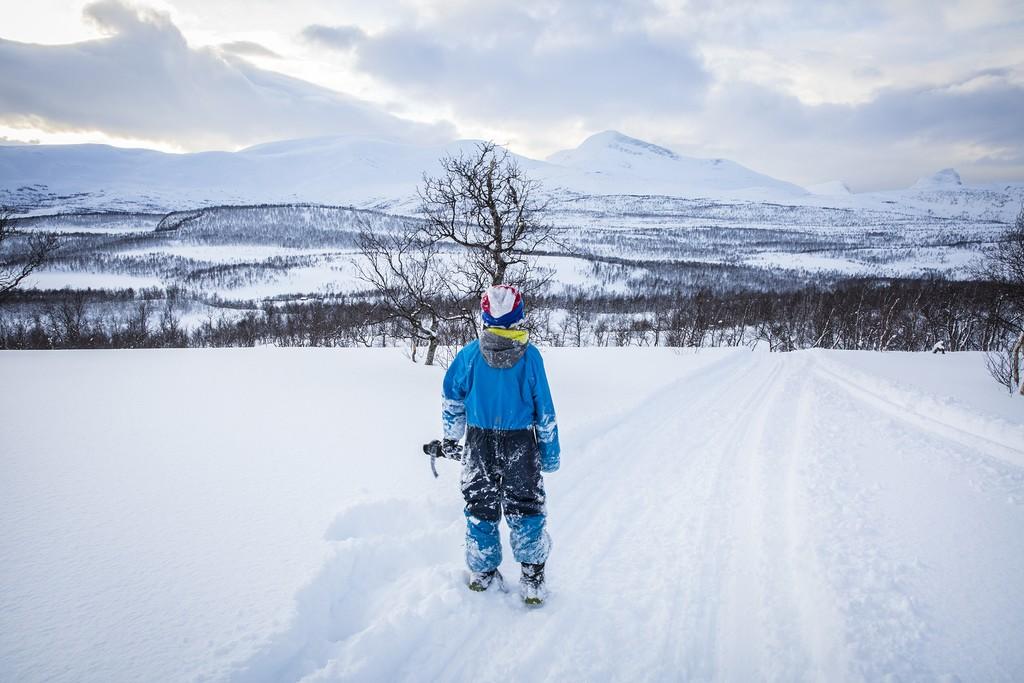 A child trekking, Nordland, Norway