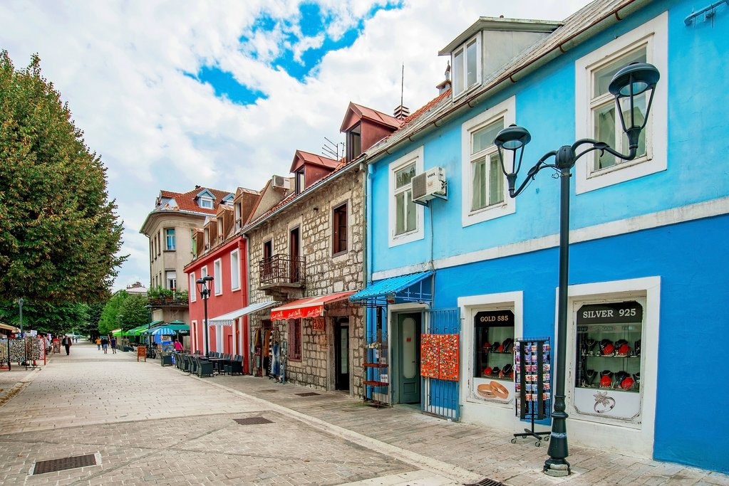Shopping street in the Royal Capital of Cetinje