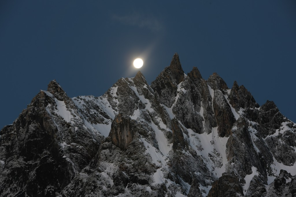 Moonlight over the Himalaya
