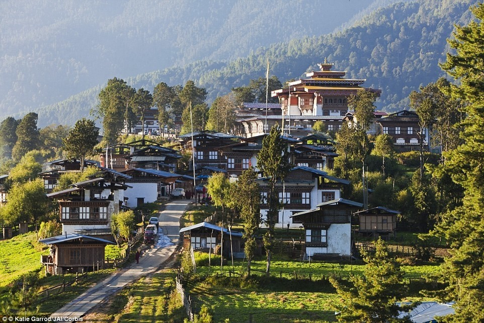 Traditional Bhutanese village