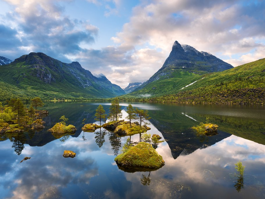 Innerdalsvatna Lake, Innerdalen valley, Norway