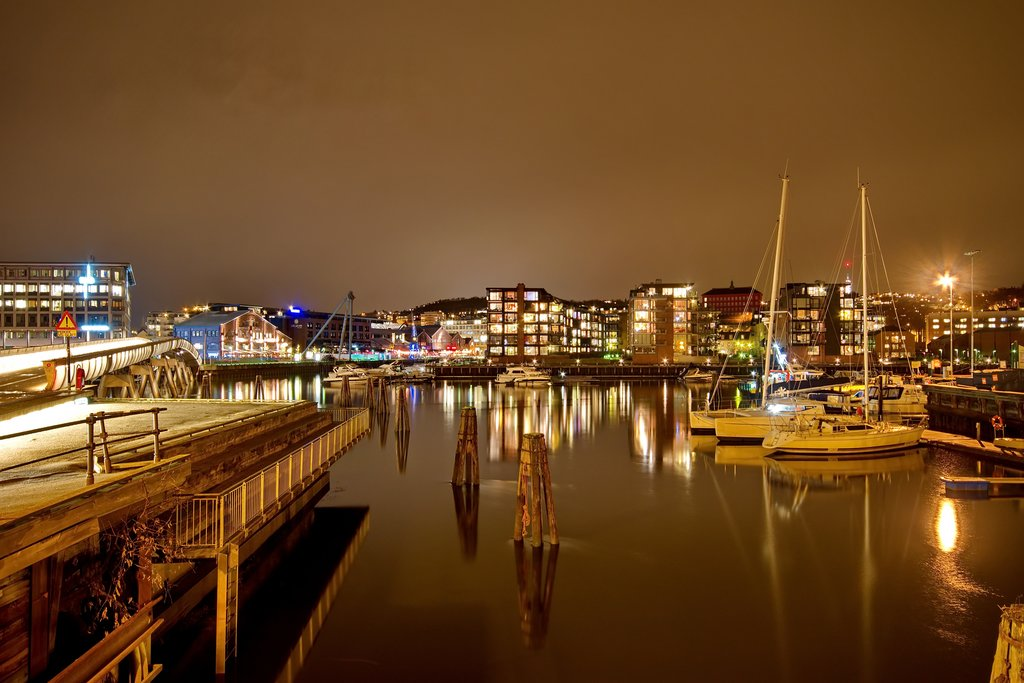 Walk around Trondheim's attractive waterfront.