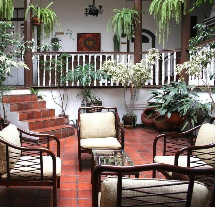 Interior courtyard of Casa Macondo