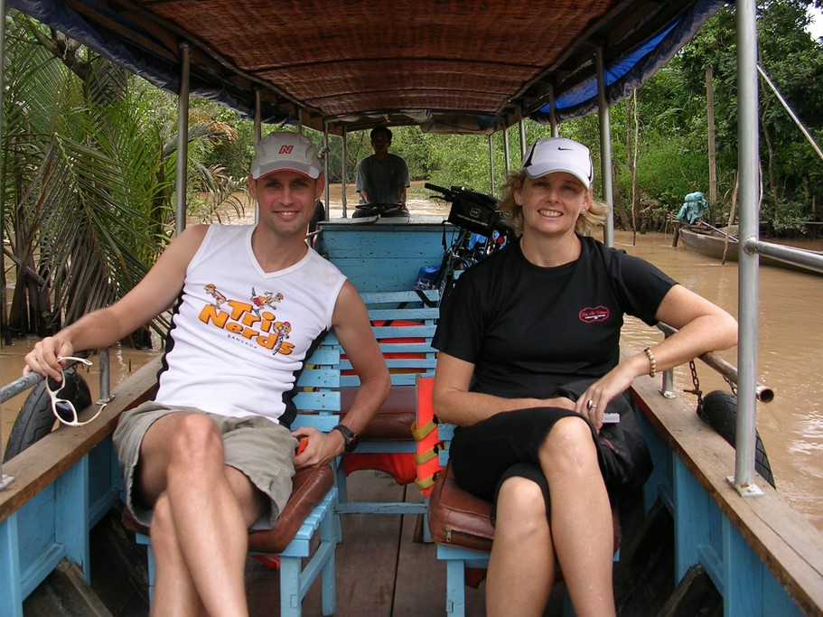 Cruising on the mighty Mekong