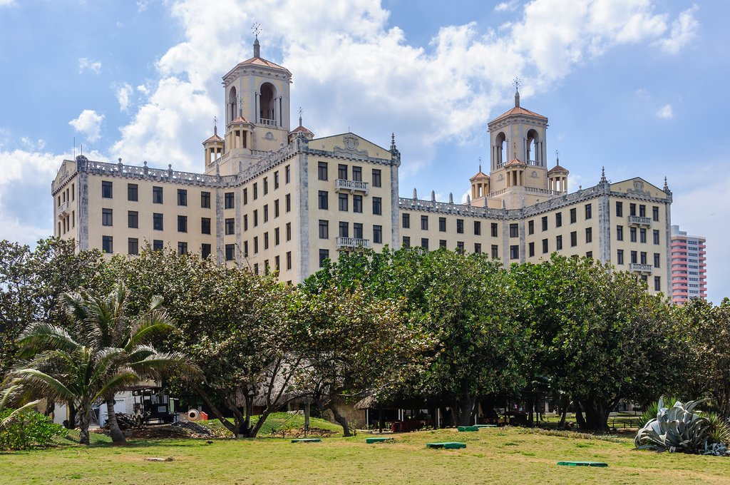 The elegant Hotel Nacional, in Vedado