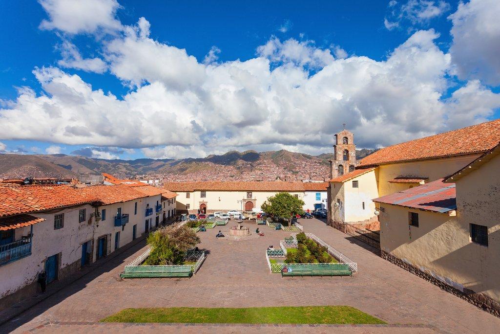 Plaza San Blas, known for its pretty square and fine restaurants