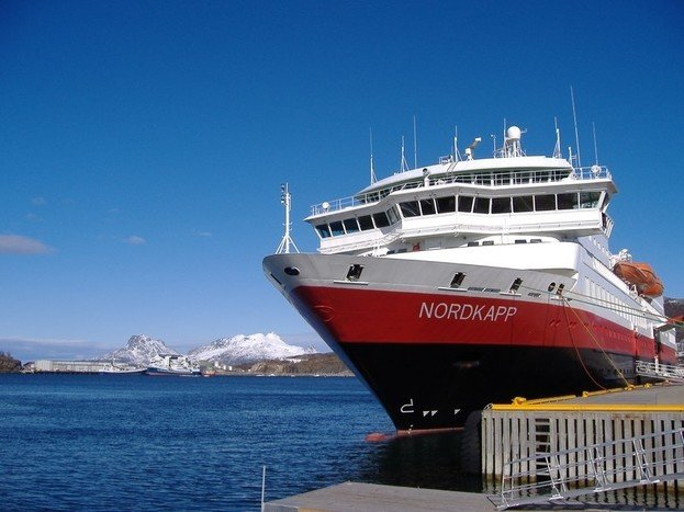 Ride through the night on the famous Hurtigruten.