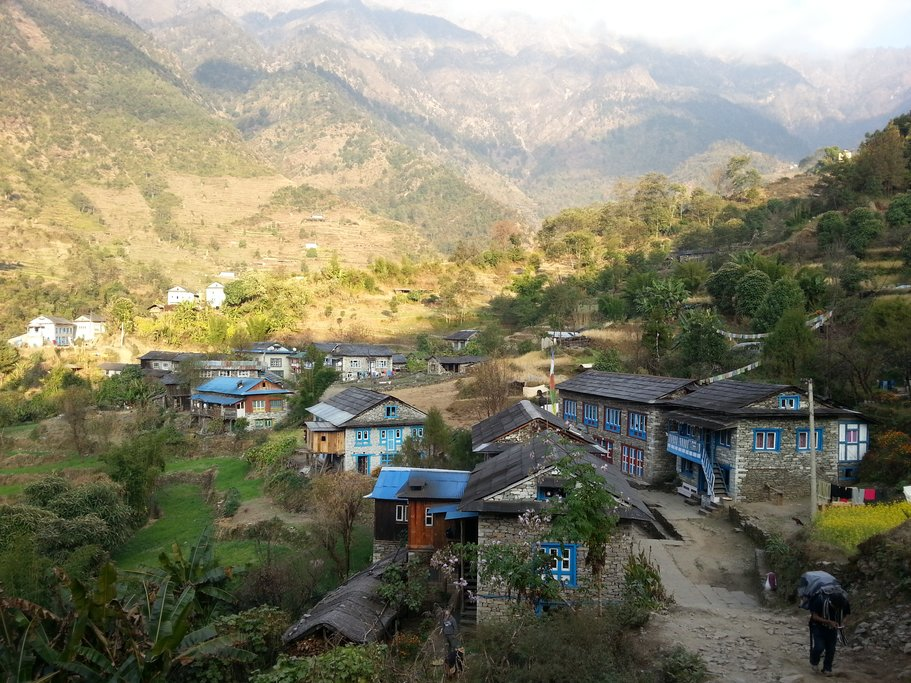 The village of Kharikola on lowe Solukhumba trail