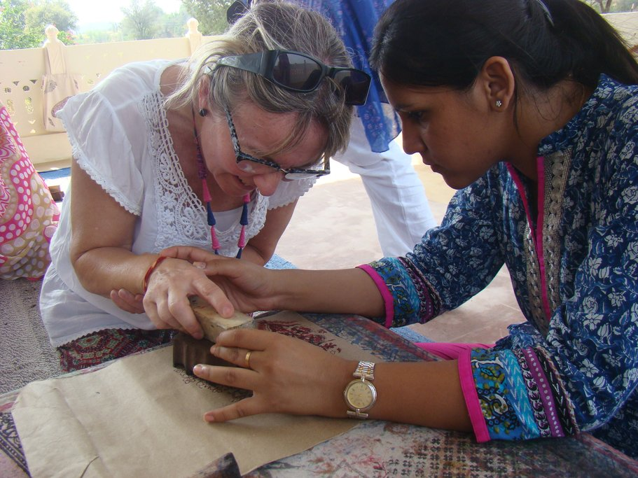 Woodblock printing in Jaipur