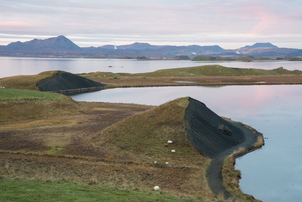 Hike around pseudocraters at Lake Myvatn