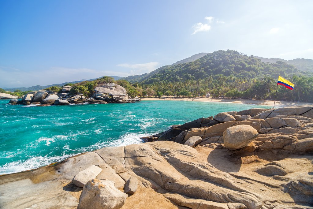 One Of The Beautiful Beaches Within Tayrona National Park