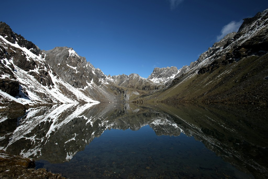 High-altitude lake