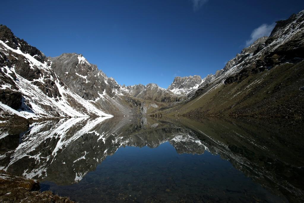High-altitude lake