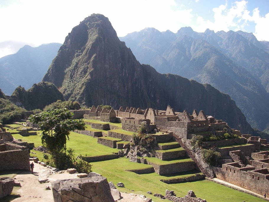 The ancient buildings of the Machu Picchu complex have been meticulously restored