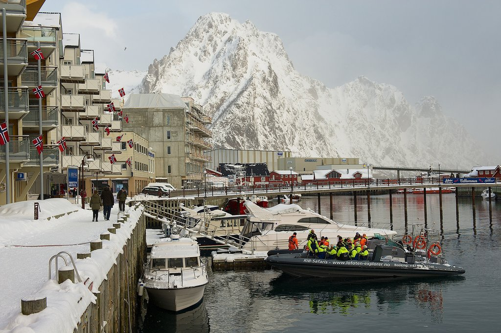 Svolvær is the village hub of the Lofoten Islands.