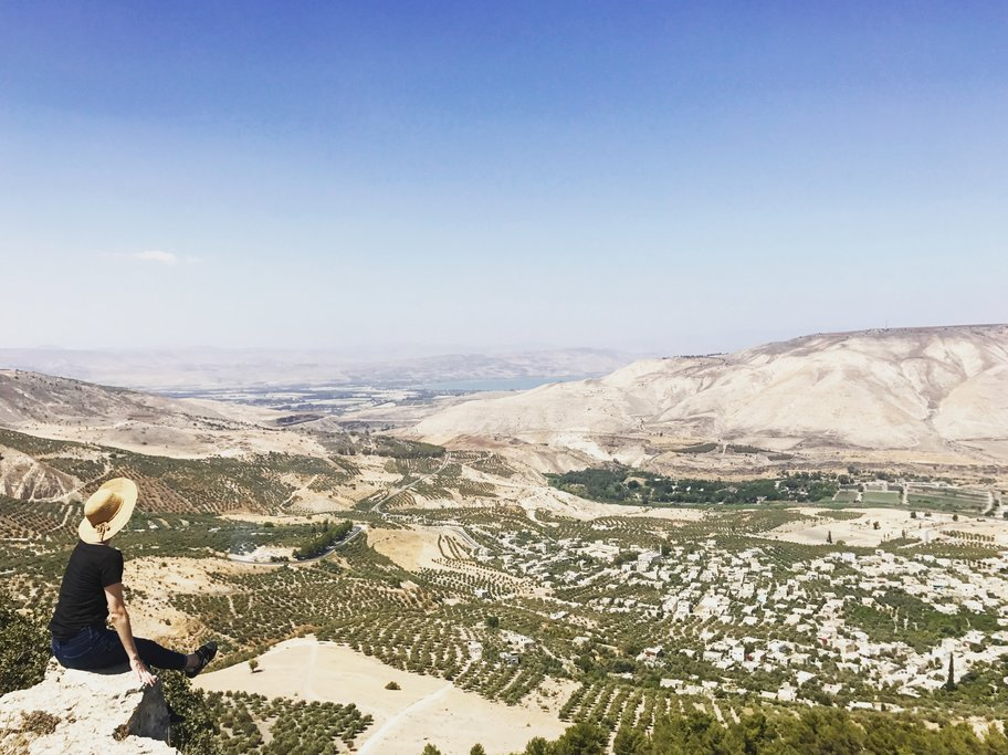 Views from a lookout point in Yarmouk Nature Reserve (Photo courtesy of Sunny Fitzgerald)