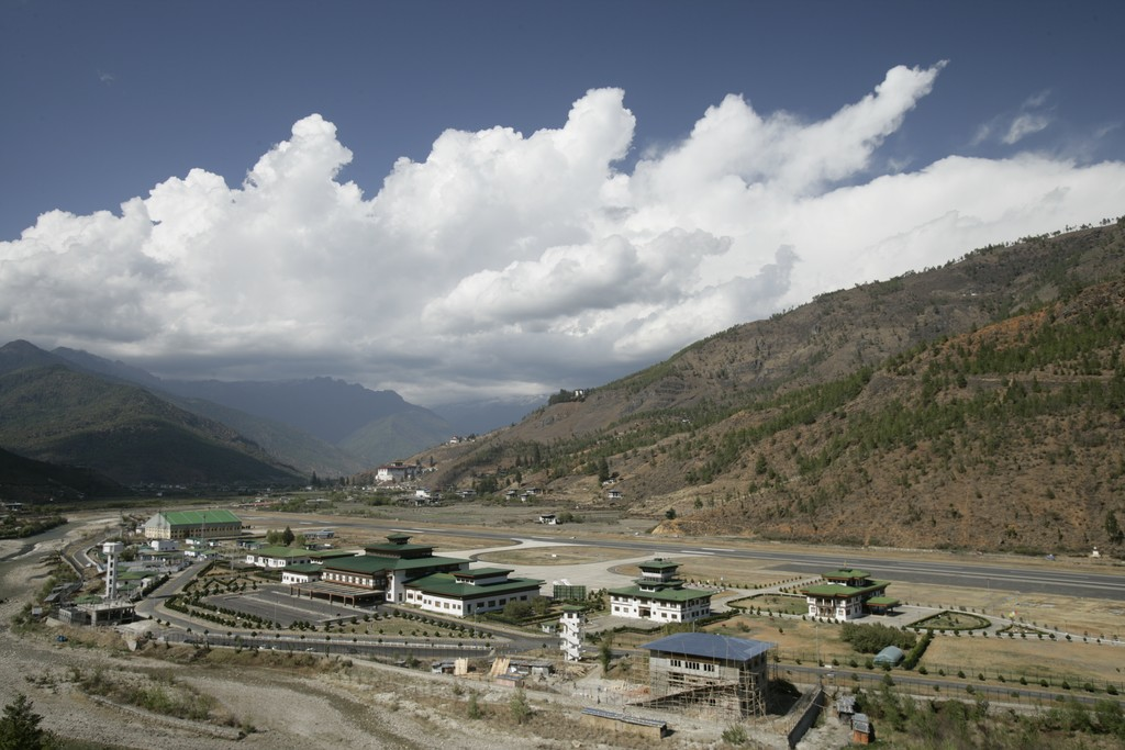 The small airport at Paro