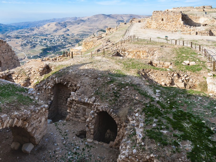 Kerak Castle, one of the many intriguing historical sites found along the Jordan Bike Trail