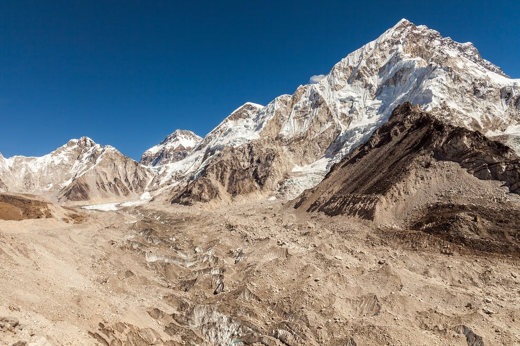 View from the moraine near Lobuche