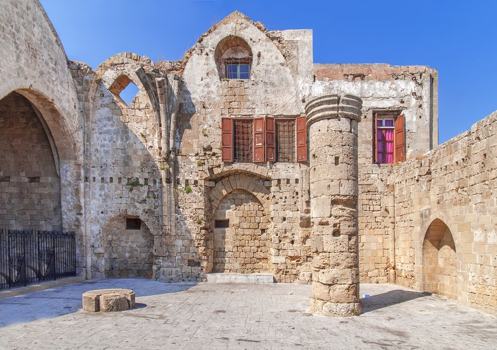 An ancient theater on the island of Rhodes