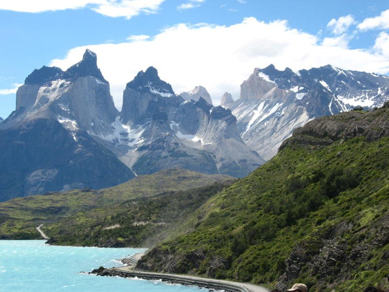 The road into Torres del Paine