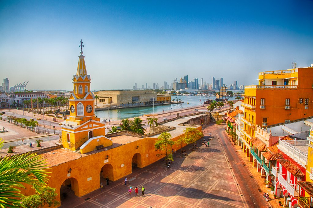 Cartagena is a 16th-century city along the Caribbean Sea.