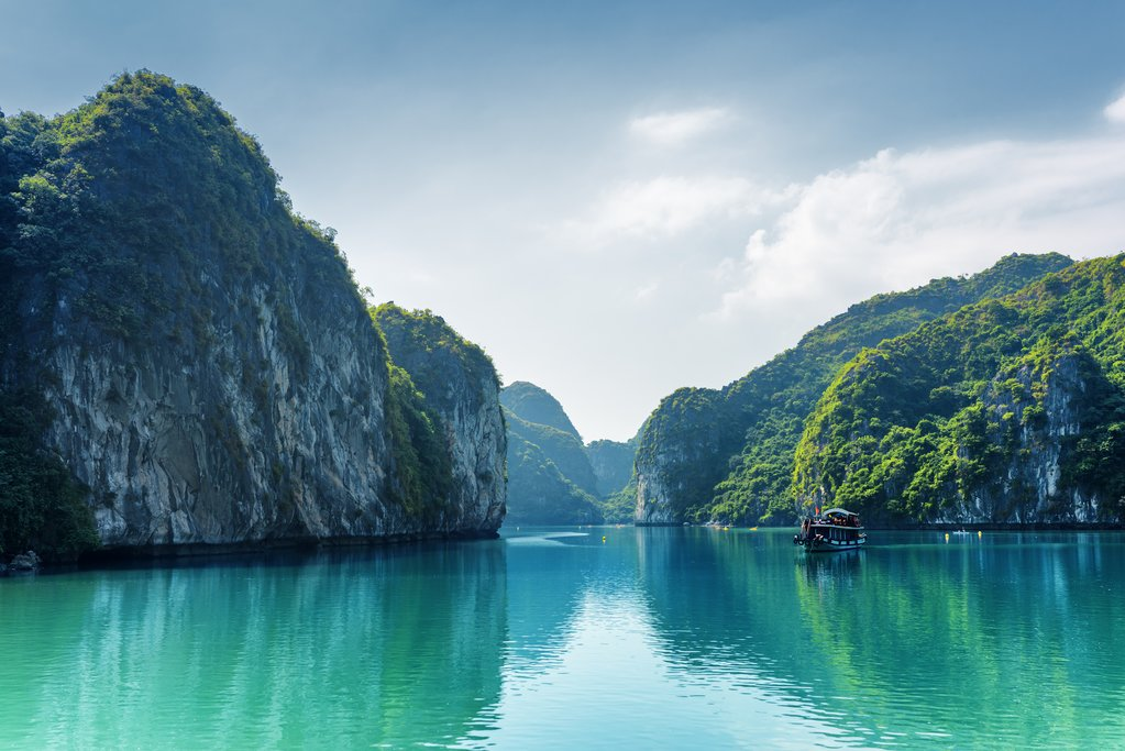 Lagoon in Halong Bay