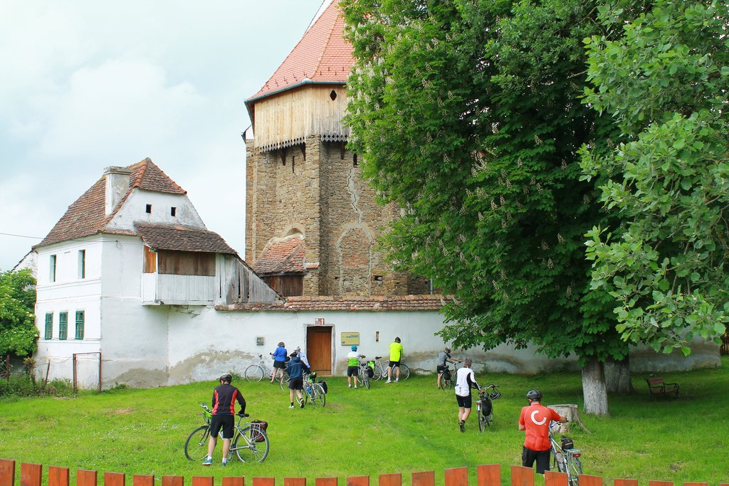 Historic fortified church in Viscri