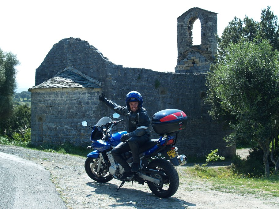 Old stone structure in a Corsican village