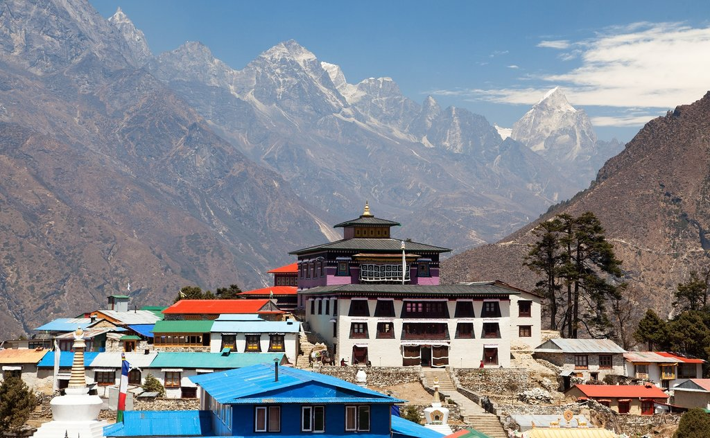 The picturesque Buddhist monastery of Tengboche