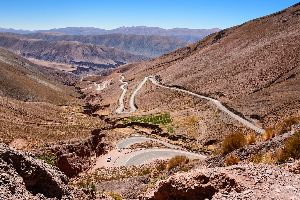 Ruta 52 from Purmamarca to Salinas Grandes