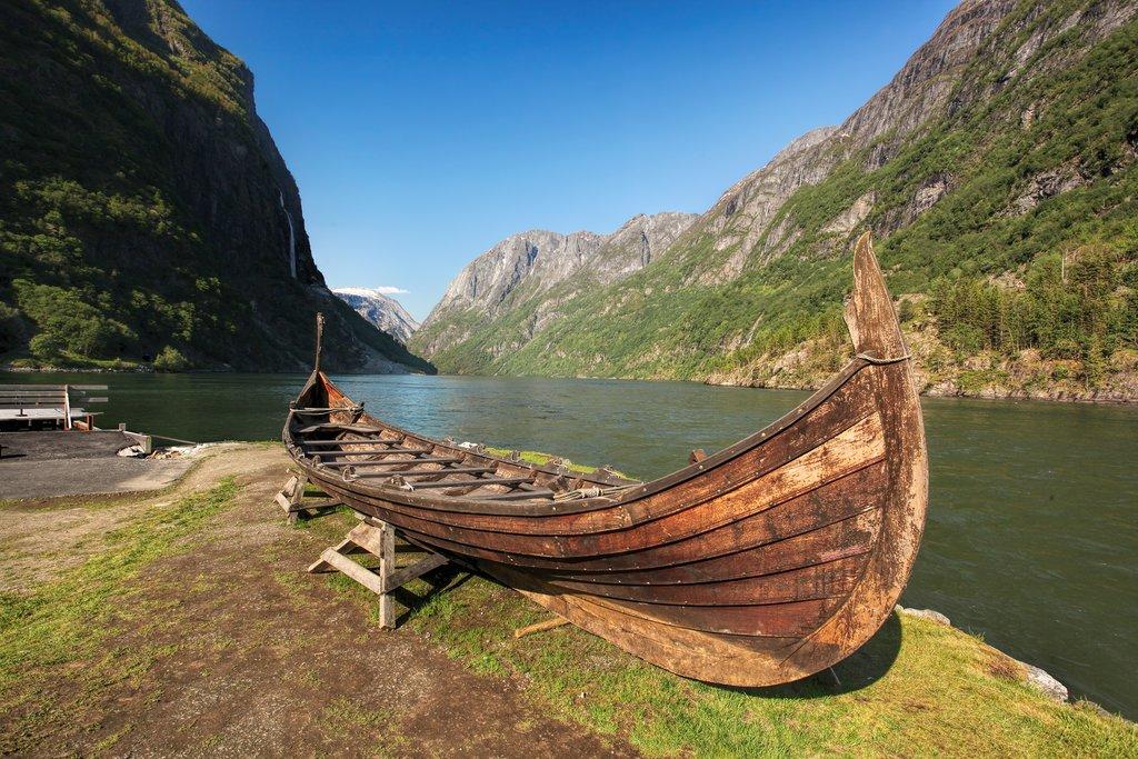 Old Viking boat, Njardarheimr, Norway
